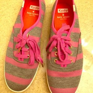Keds by Kate Spade. Pink and Gray 7 1/2
